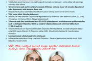 PANE TÄHELE! Käitumisreeglid Rakvere, Tartu ja Tallinna väljastuskeskustes
