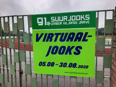 91. ümber Viljandi järve jooksu virtuaaljooksu plakat Vi