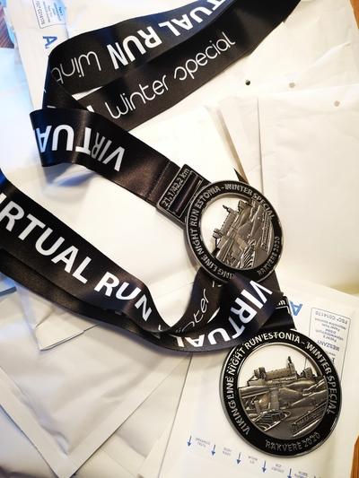 Medalid jõuavad postiga otse teie kodupostkasti.