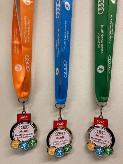 Vastava distantsi paelaga medalid ootavad heategevusse panustavaid jooksjaid
