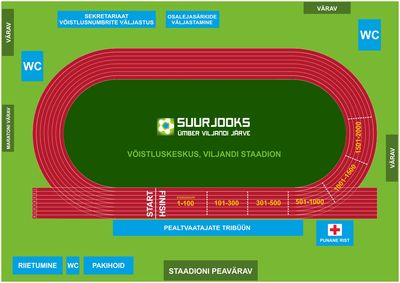 Võistluskeskus asub tänavu täielikult Viljandi linnastaadionil.