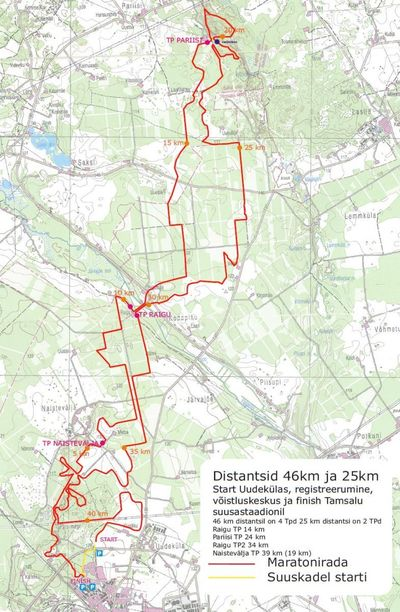 Tamsalu-Neeruti maratoni rajakaart
