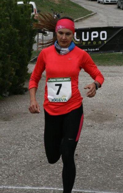 Kaisa Kukk I Jõgeva Rahvajooksu finišis