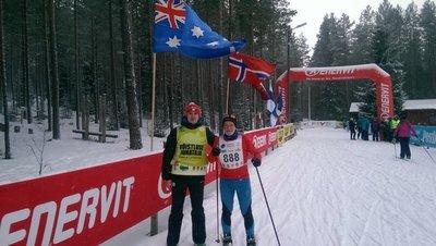 Estoloppeti sarja juht Robert Peets ja Adrian Blake Pannjärvel (2015). Foto: Estoloppet