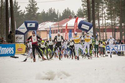Jäädvustus 16. Alutaguse maratoni stardist. Foto autor Kaimo Puniste
