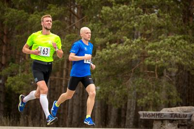 Allar Lamp ja Olavi Allase liikumas finiši suunas. Pilt: Aldis Toome