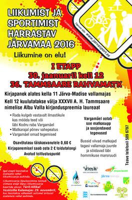 Liikumist ja sportimist harrastav Järvamaa 2016 I etapp Tammsaare matk - Albus