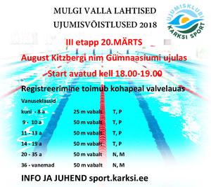 Mulgi valla lahtised ujumisvõistlused III etapp